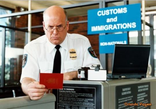 Perguntas que farão para você na imigração dos EUA